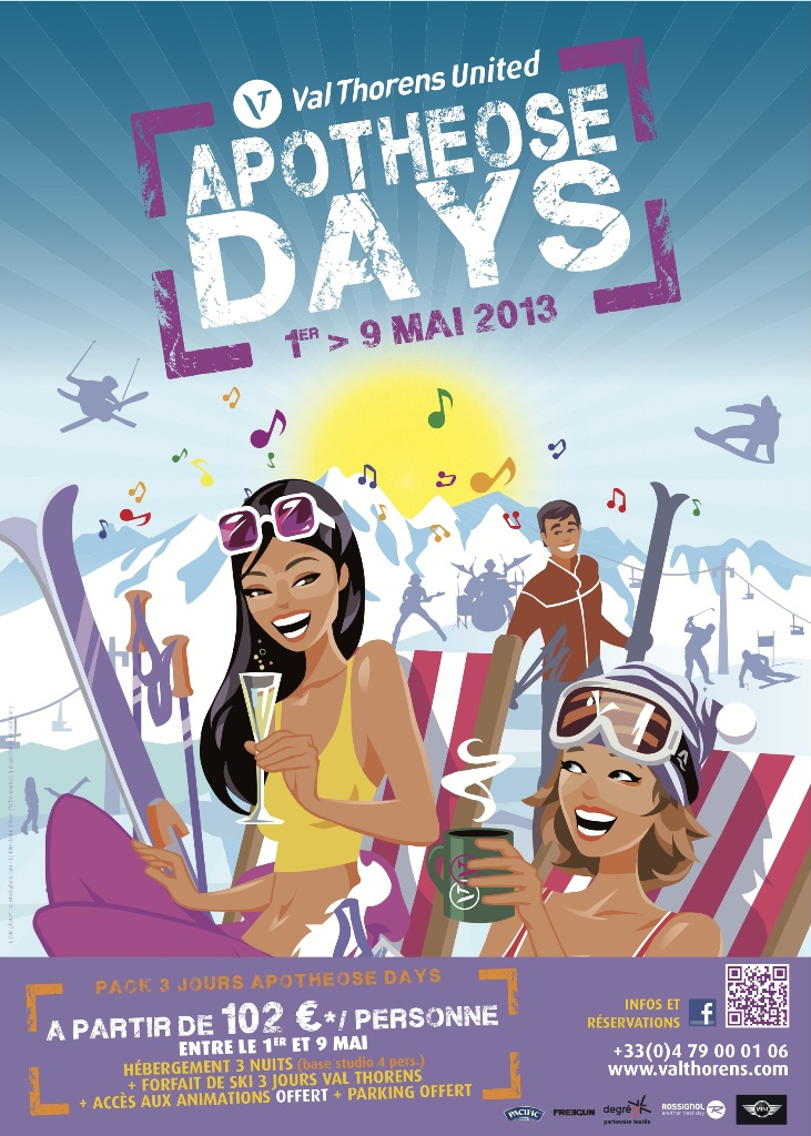 Apotheose Days poster, with events in Val Thorens in May 2013