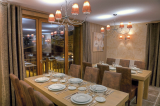 Val Thorens apartments, self-catering accommodation in Val Thorens, Les Balcons de Val Thorens Platinum dining area
