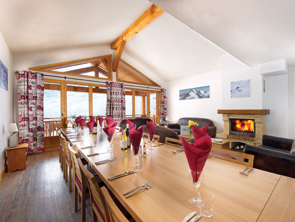 Dining area, Chalet Catherine, Val Thorens