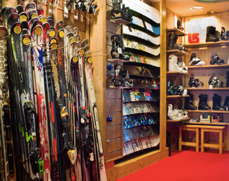 Skis and board sales, Zenith Ski Shop, Val Thorens