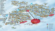 Val Thorens resort map, showing apartments in Val Thorens