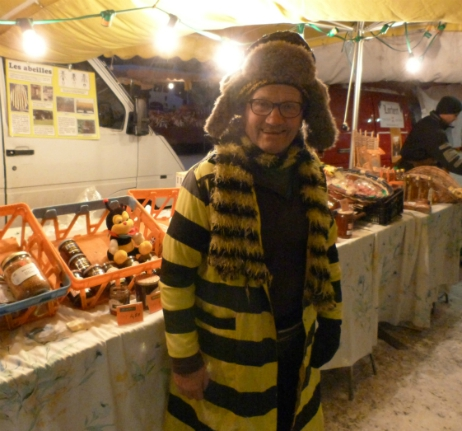 Honey stall at Val Thorens market