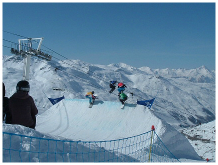Boardercross in Val Thorens