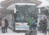 Bus station in Val Thorens