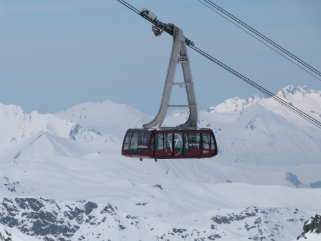 Cime de Caron cable car, Val Thorens