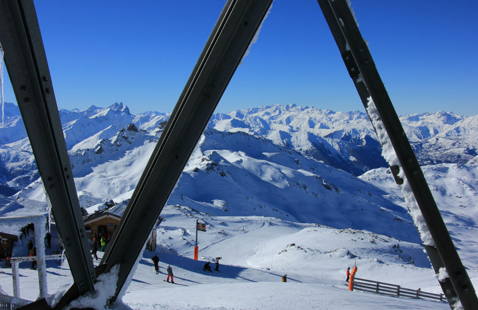 View from Cime de Caron, Val Thorens