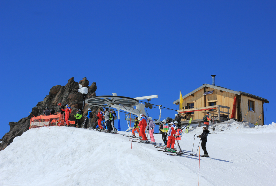 Top of Col chairlift, Val Thorens