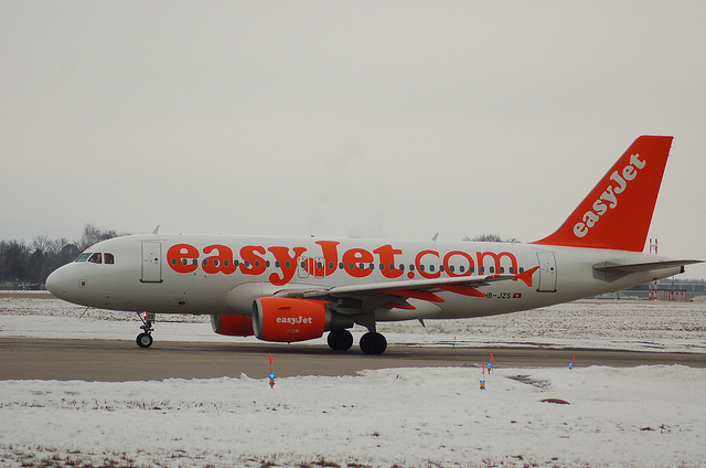 Easy Jet plane at Geneva airport