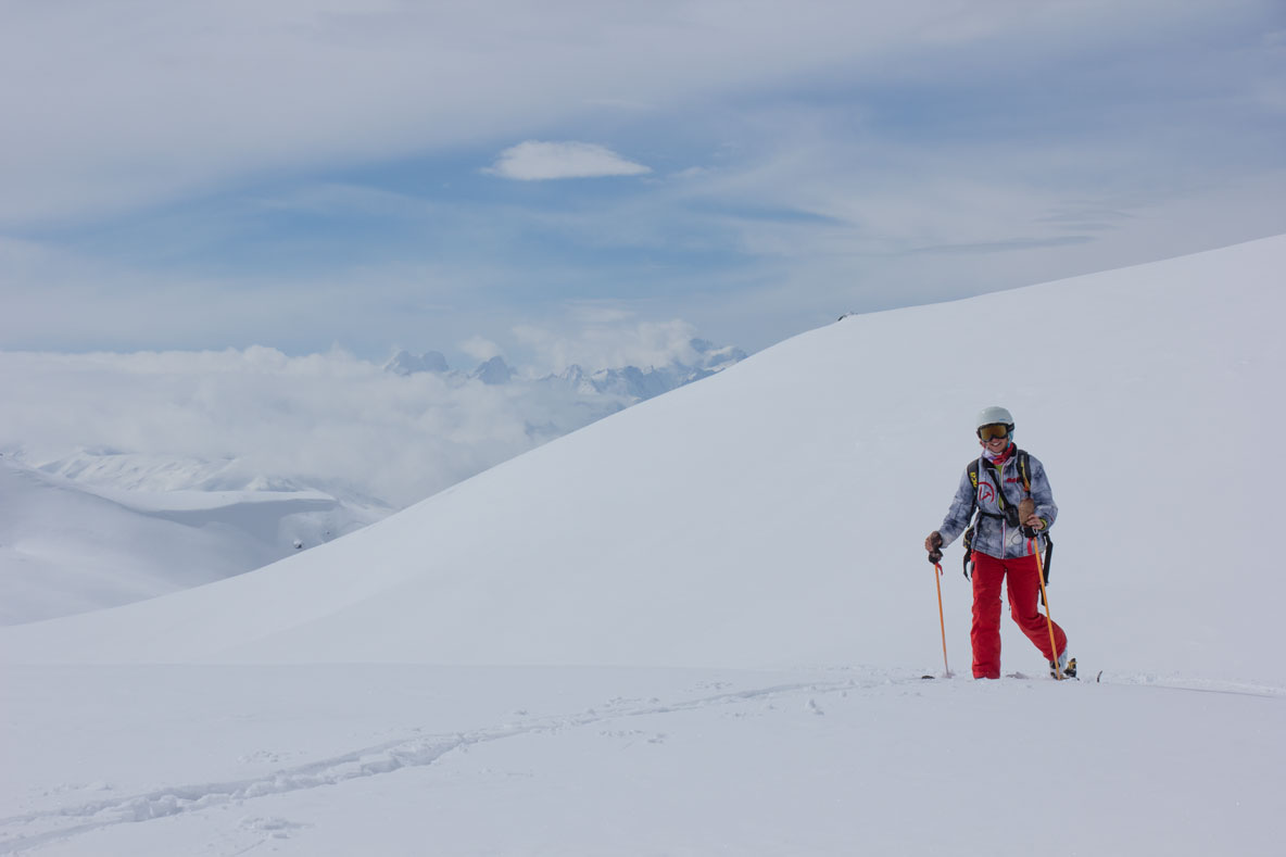 Touring skier near La Gratte, 31st March 2018