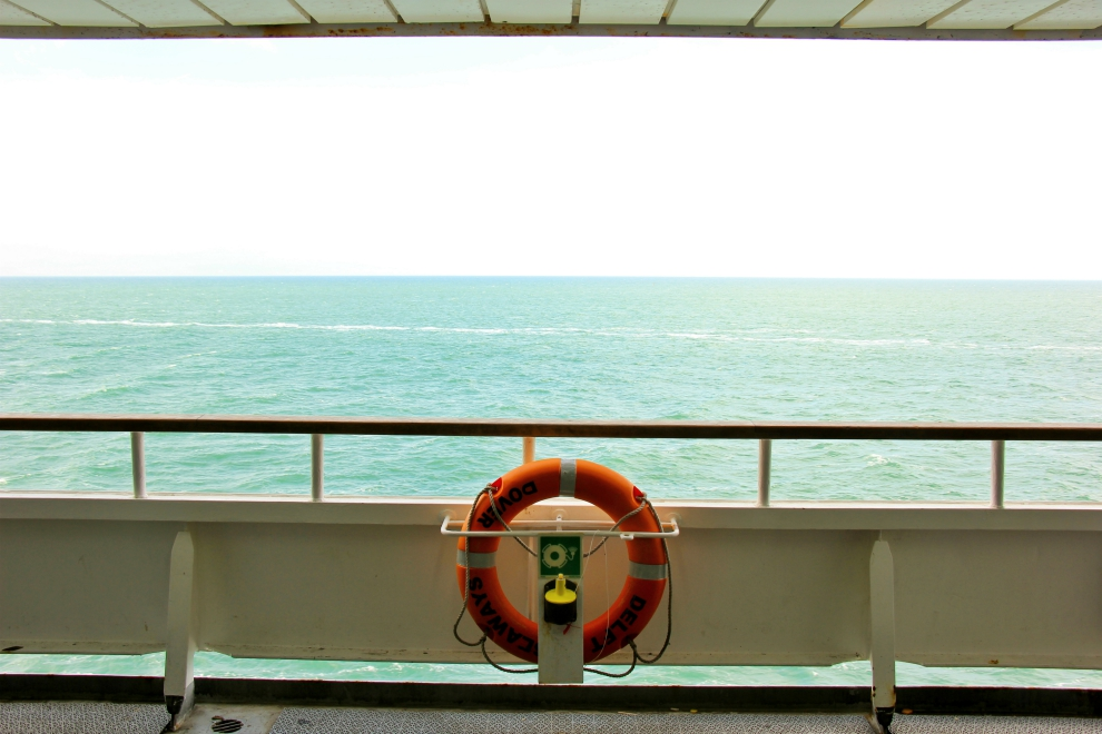 View from a DFDS ferry