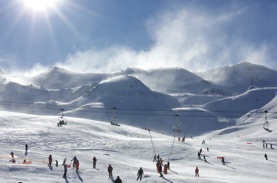 Foehn wind, Val Thorens