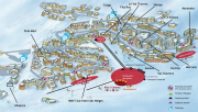 Val Thorens resort map, map of the hotels in Val Thorens