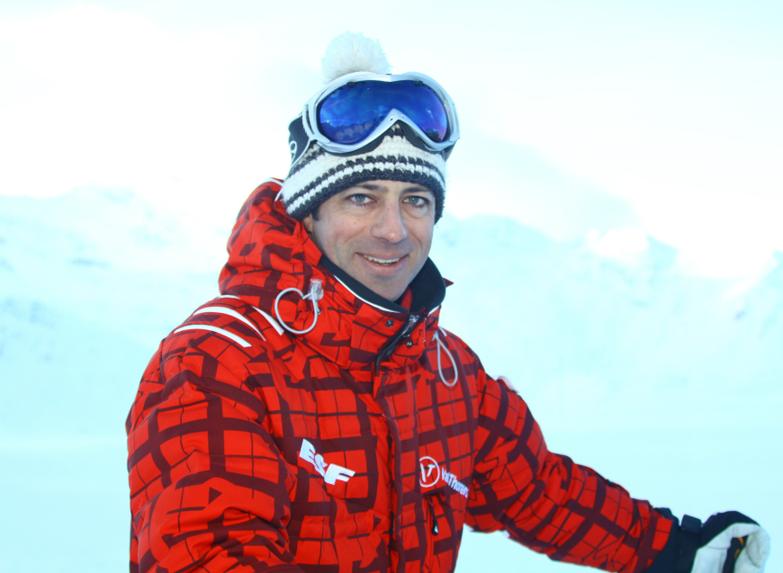 British ski instructor, Val Thorens