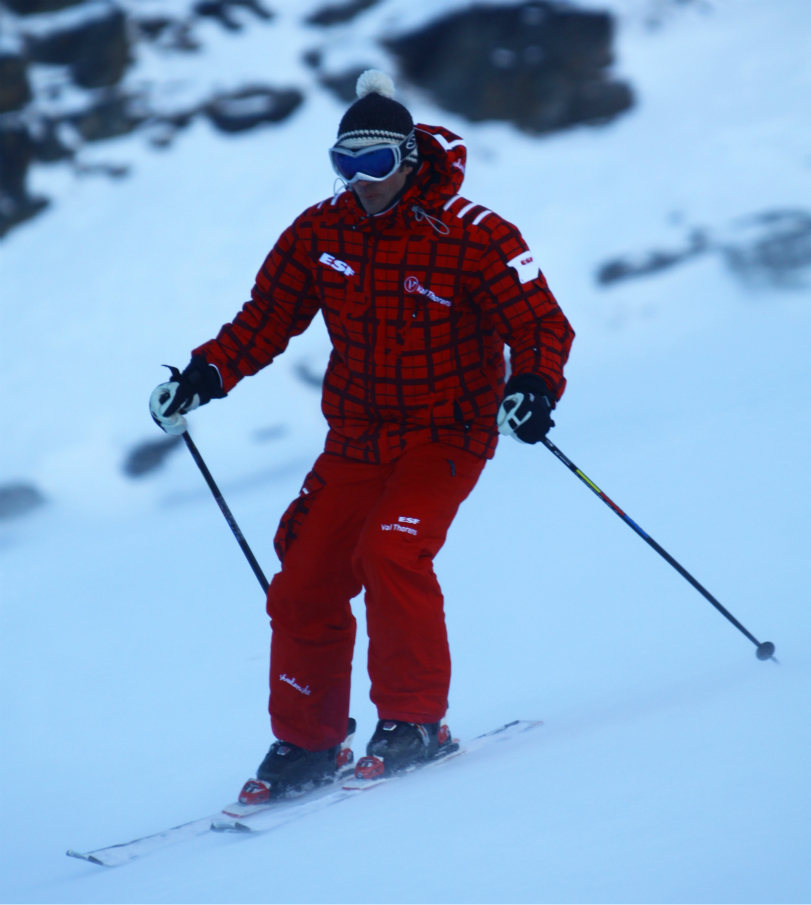 British ski instructor in Val Thorens