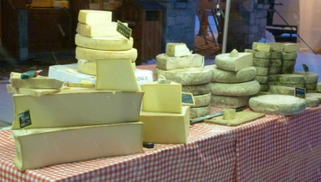 Cheese at Val Thorens market
