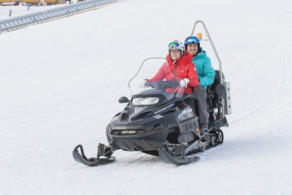 Ski doo ride, Val Thorens