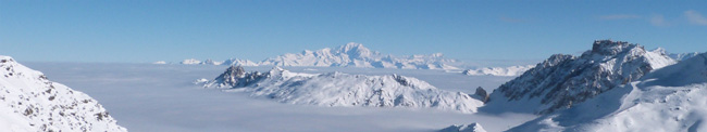 View of Mt Blanc from Val Thorens