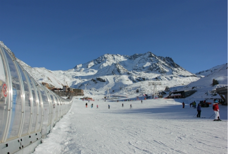 Beginners' area in Val Thorens, by Musaraigne lift