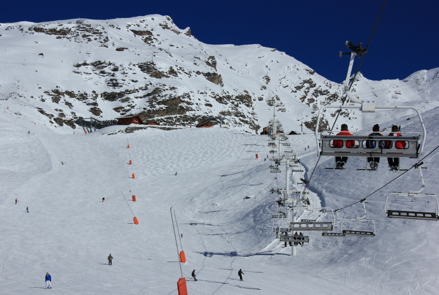 Plein Sud chair & piste, Val Thorens