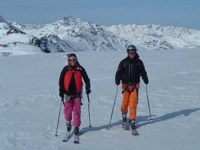 Touring skiers, Val Thorens