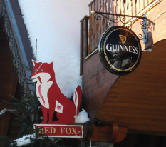 Red Fox pub in Val Thorens