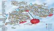 Val Thorens resort map, location of the restaurants in Val Thorens