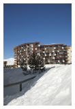 Val Thorens accommodation, apartments in Val Thorens, Résidence Maeva le Schuss, exterior shot