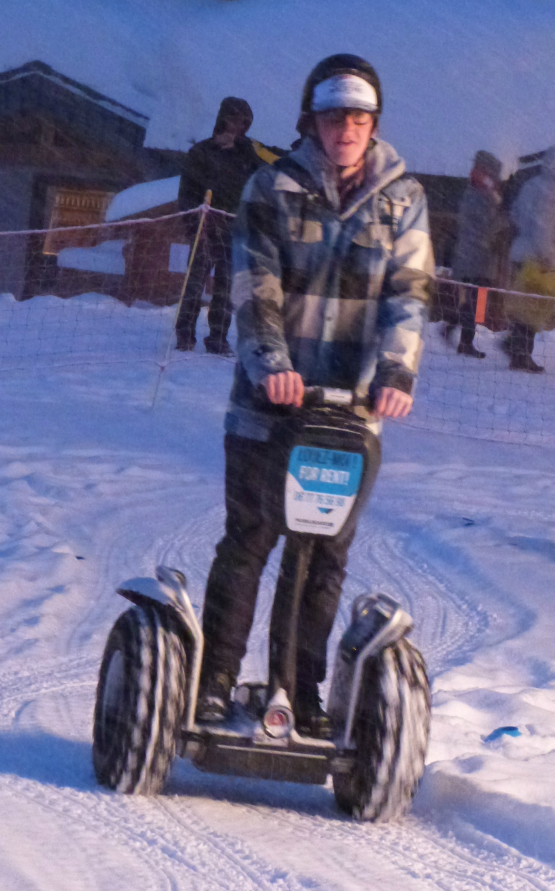 Val Thorens news - segways, February 2013, place Caron