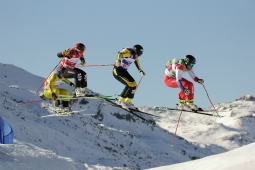 Skicross World Cup race in Val Thorens