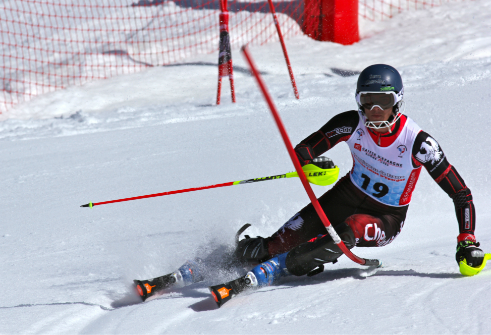 Sam Alphand, slalom of the Alpine Combined, French National Championships in Val Thorens, 30th March 2017