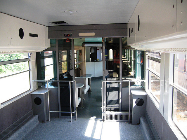 Disco & bar carriage in the old Snow Train