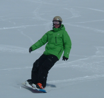 Snowboarder in Val Thorens