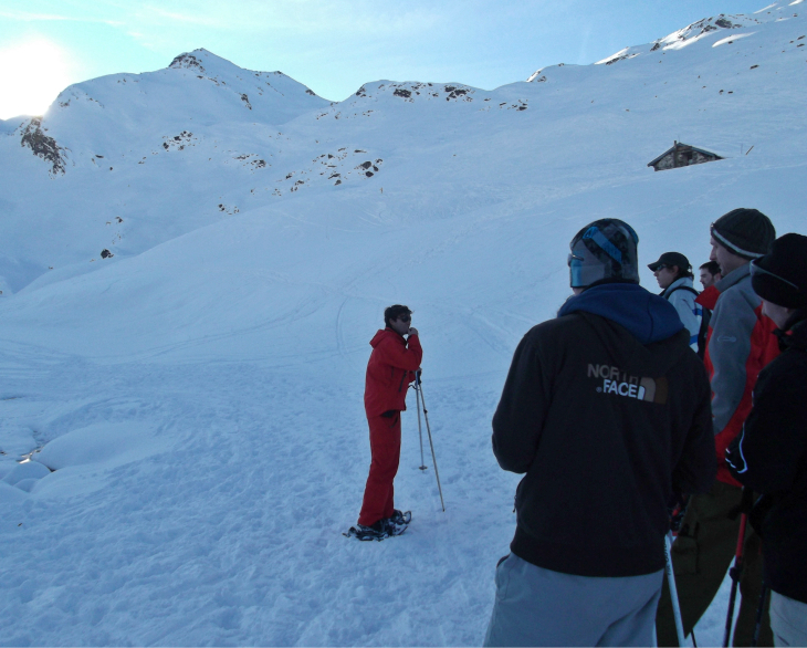 Snowshoe walk with the ESF in Val Thorens