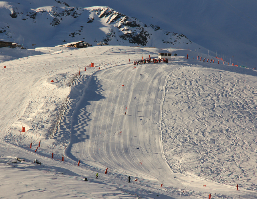Giant slalom race, Stade des Chlaets, Val Thorens