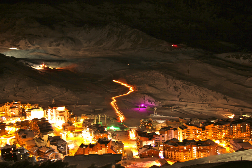 New Year's Eve torchlit descent, Val Thorens