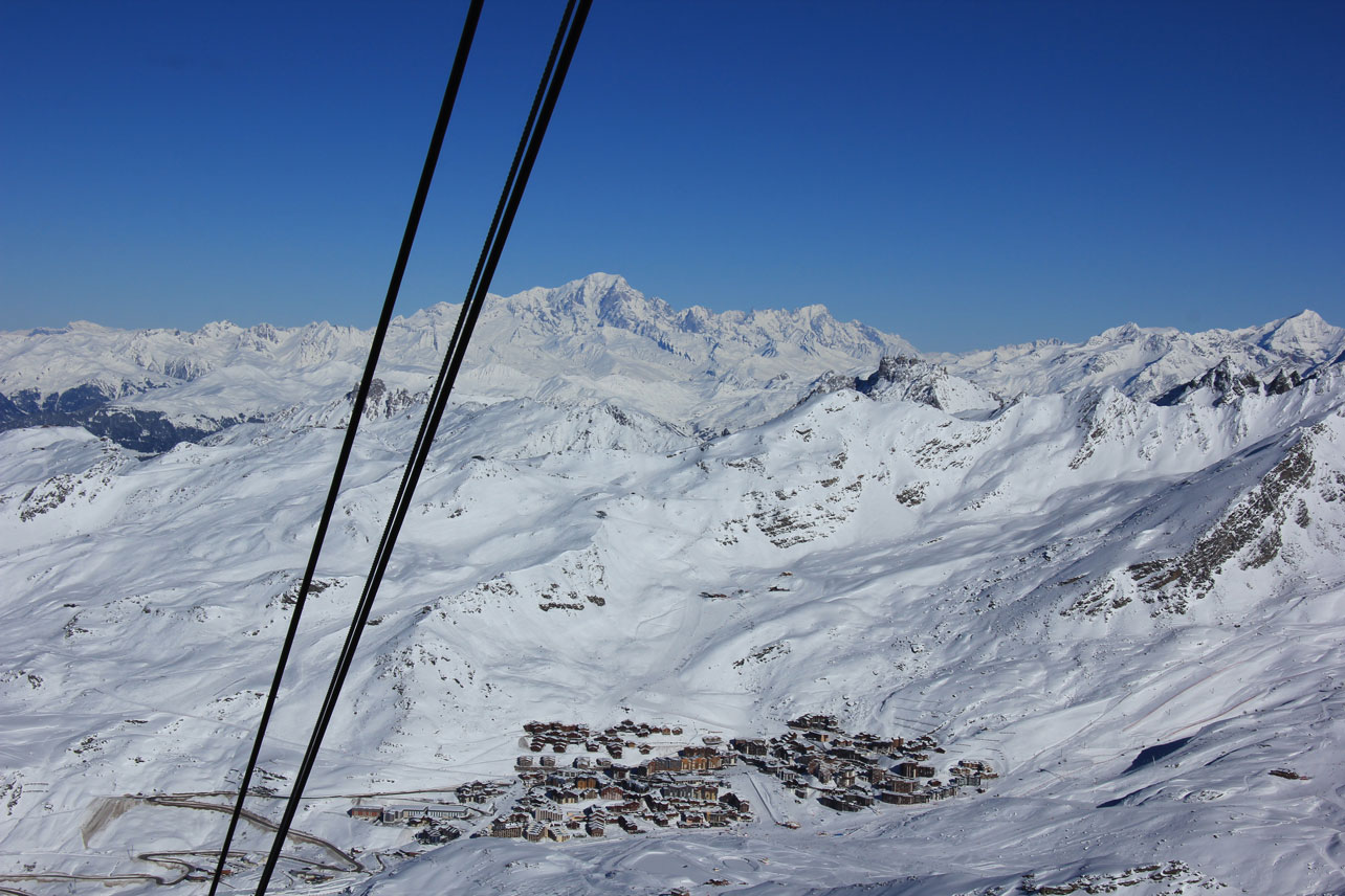 Val Thorens from the Cime de Caron