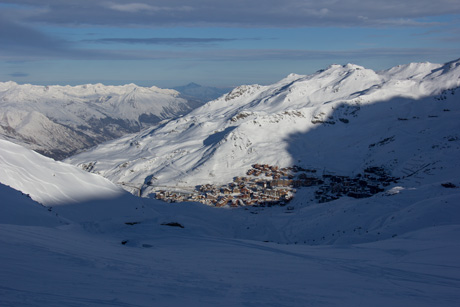 Val Thorens from Fond, 11th January 2019