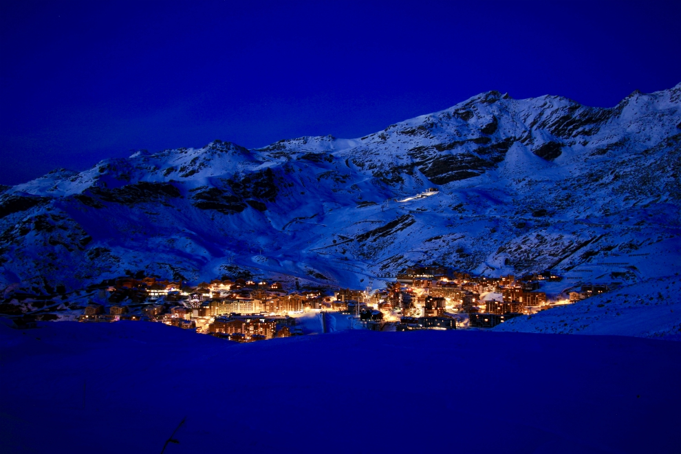 Val Thorens in the evening