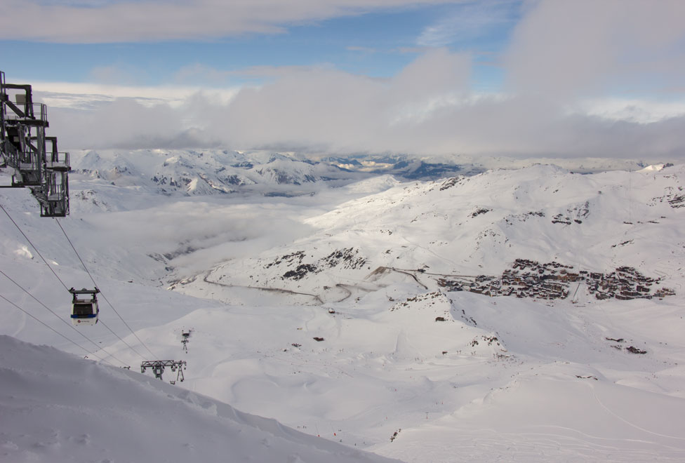 Val Thorens from Grand Fond, 16th February 2018