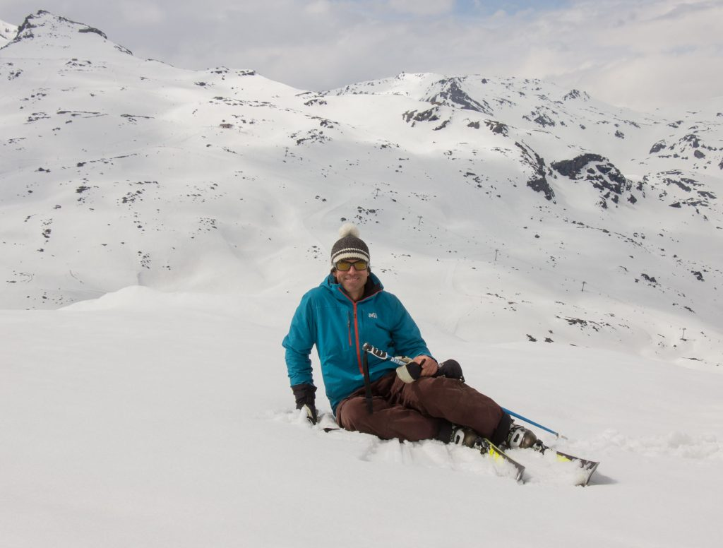 Getting up on skis (down)