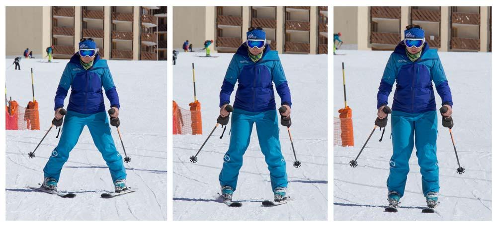 Snowplough to straight skis