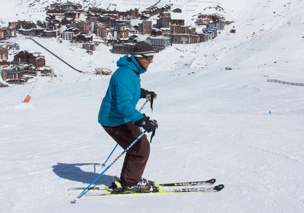 Mistakes in ski posture - not enough ankle flex