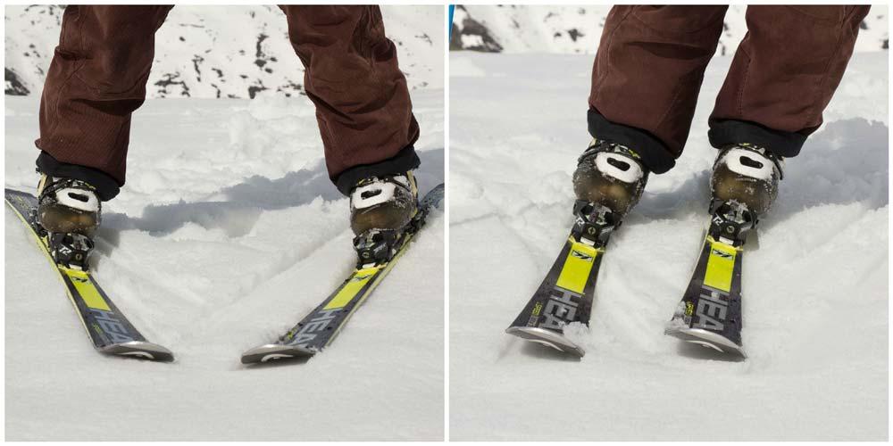 Snowplough edges and parallel edges
