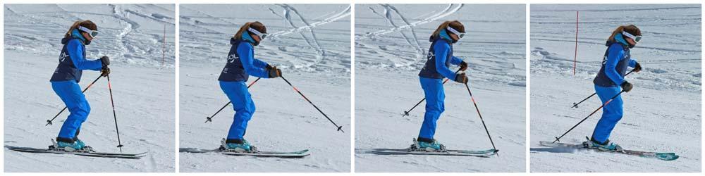 Pole plant in a ski turn