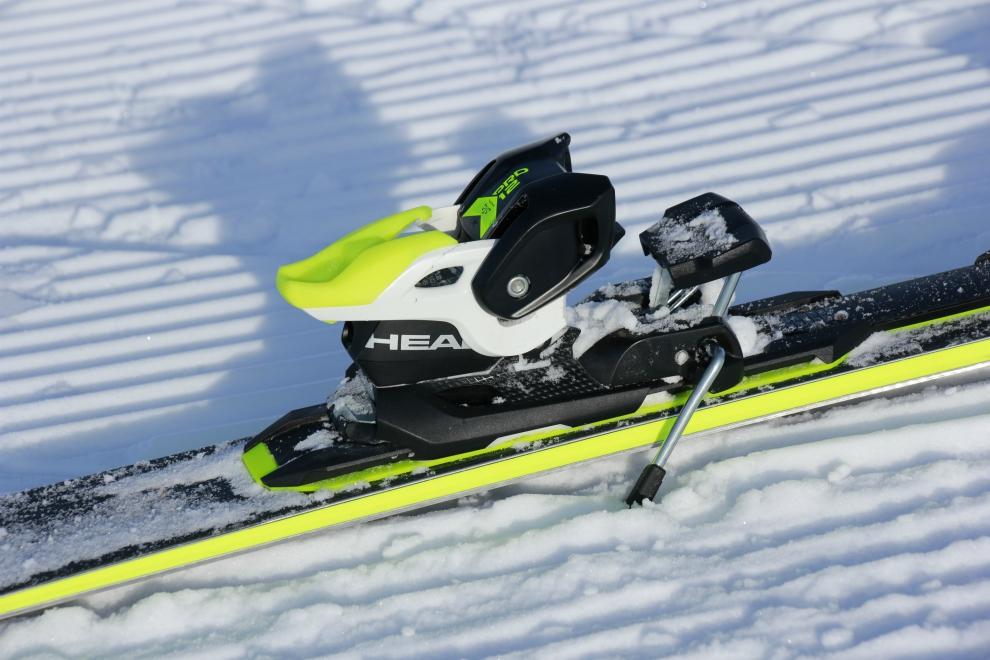 Ski brakes preventing skis sliding away