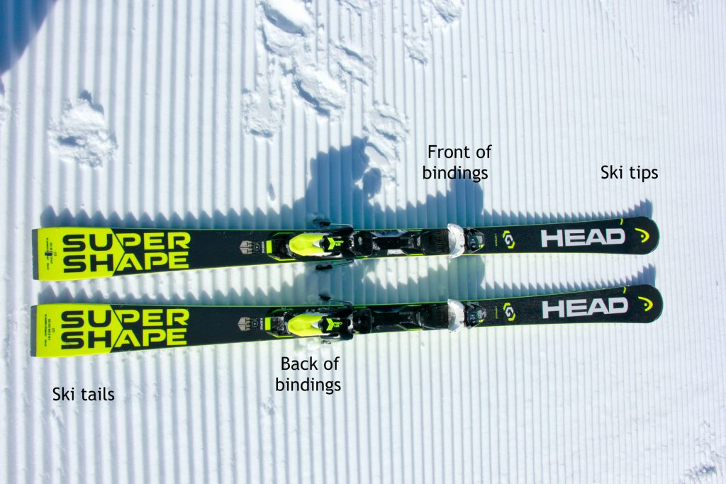 Names of the parts of skis