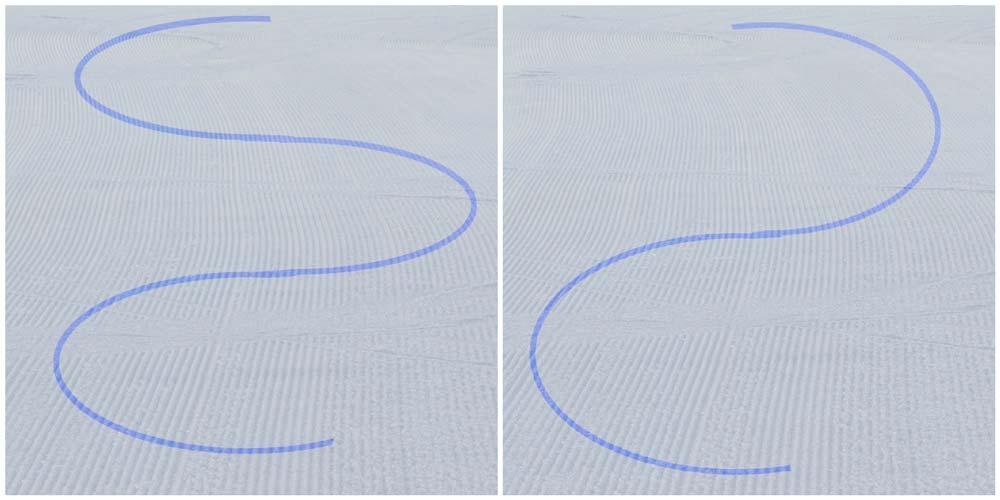 Ski turn shape comparison