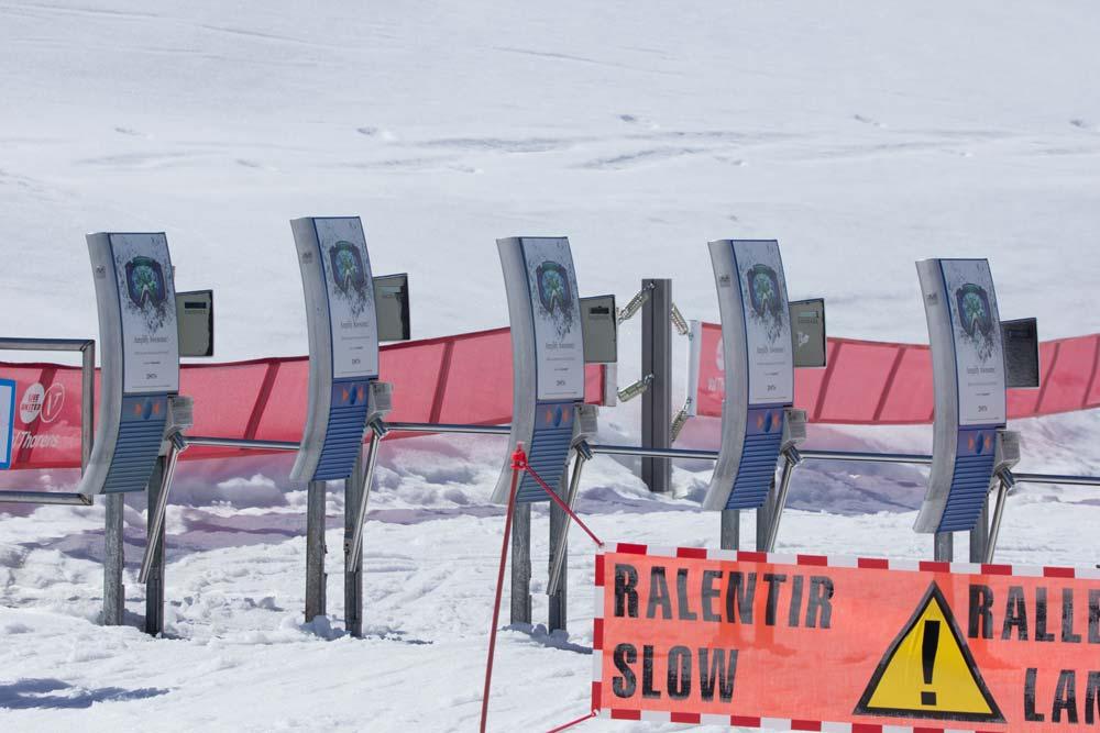 Turnstiles at a ski lift
